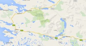A mudslide of hundreds of tonnes of peat has closed the N59 Galway-Clifden road, some 8km  east of Clifden town in Connemara. Source: Google maps