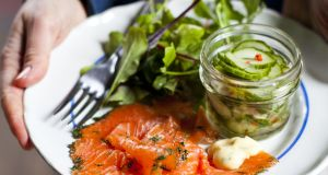 Gravadlax with cucumber pickle