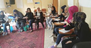Changing course: teenage girls at a workshop that Akkar Network for Development hopes will help them develop some independence