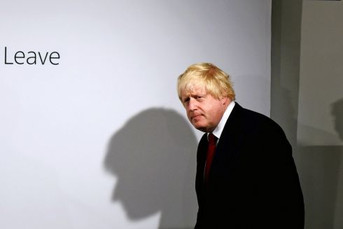Vote Leave campaign leader Boris Johnson arrives to speak at the group's headquarters in London, Britain June 24, 2016.  Photo: Mary Turner/Reuters