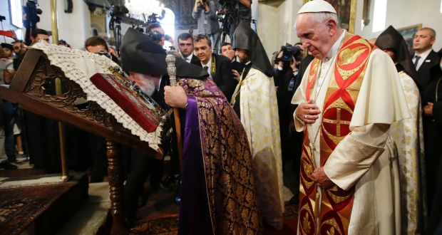 Pope Francis refers to Armenian 'genocide' in Yerevan visit