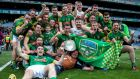 Meath players and officials celebrate their Christy Ring Cup victory at Croke Park on Saturday. Photograph:  Tommy Dickson/Inpho