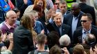 US vice president Joe Biden greets residents at Carligford, Co Louth.Photograph: Cyril Byrne/The Irish Times