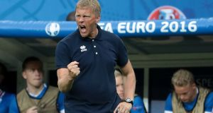 "Iceland's joint manager  Heimir Hallgrimsson: ""To be at this stage with Iceland, with the chance to get to a quarter-final, is incredible. We're full of excitement"""