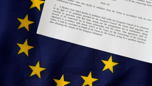 Article 50 of the EU's Lisbon Treaty deals with the mechanism for departure. Photograph: Reuters