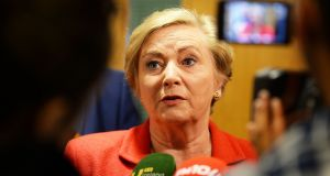 Minister for Justice Frances Fitzgerald said when the Fines Act 2014 takes full effect the figures on imprisonment for fines will change dramatically.  Photograph: Cyril Byrne / The Irish Times