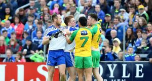Monaghan and Donegal renew Ulster rivalry. They say familiarity breeds contempt but it can also breed respect. Photograph: Andrew Paton/Inpho