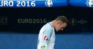 England captain Wayne Rooney is substituted against Iceland. Photo: Kai Pfaffenbach/Reuters