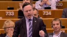 'Do not let Scotland down!': MEP receives standing ovation after rousing speech