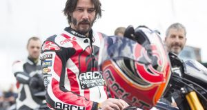 Actor Keanu Reeves was just one of a host of celebrities and motorsport stars driving the hill at the Festival of Speed