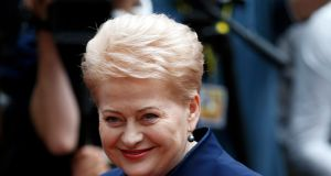 Lithuanian President Dalia Grybauskaite arrives at the EU Summit in Brussels, Belgium, June 28, 2016.          REUTERS/Francois Lenoir
