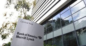 Assets plummeted at Dublin's Bank of America Merrill Lynch from €361 billion in 2010 to just € 5 billion as of the end of 2015, as the bank continued to retrench its Irish operations.Photograph: Aidan Crawley