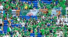 It was apparent that to abstain from drinking would quickly make spending any time with Irish fans nigh-on intolerable. Photograph: James Crombie/Inpho
