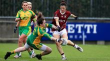 Laura Walsh in action against Donegal in the Division Two league final this year. Photograph: Donall Farmer/Inpho