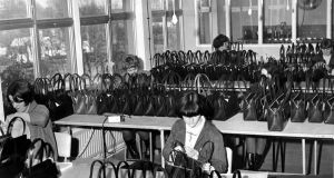 Beverly handbags being made in  O'Rahilly Hall, Bray, Co Wicklow. Photograph: Dermot O'Shea/The Irish Times
