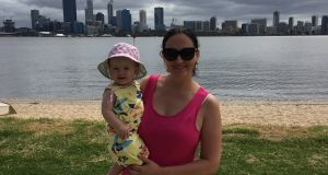 "Geraldine Potts in Perth with Erin: ""When I was in Sydney I was home about every nine months"""