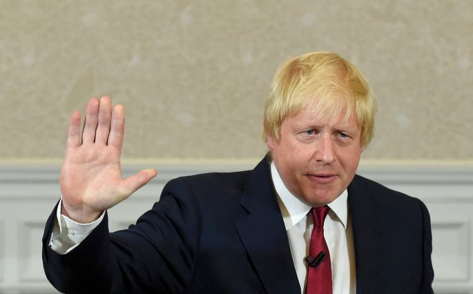 THURSDAY: Vote Leave campaign leader, Boris Johnson, waves as he finishes delivering his speech in London, where he ruled himself out of the running to be Uk prime minister. Photograph: Toby Melville/Reuters
