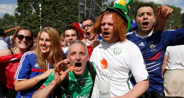10881af059f Fans at the end of the France v Republic of Ireland Euro 2016 match  Irish