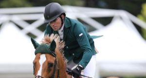 Conor Swail managed a second place finish in the Pan American Cup at Spruce Meadows in Canada. Photograph: Inpho