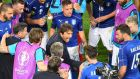 Antonio Conte's Italy reign ended in a penalty shootout defeat to Germany in Bordeaux. Photograph: Afp