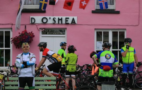 The Ring of Kerry Charity Cycle passed through Sneem Village over the weekend.  Photograph: Nick Bradshaw