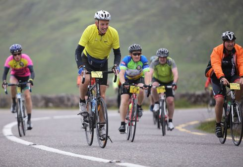Tony Huggard, Killarney, taking part in the 33rd Annual Ring of Kerry Charity Cycle, the biggest one day charity fundraising event in Munster.  Photograph: Valerie O'Sullivan