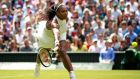 Serena Williams trounced Germany's Annika Beck 6-3, 6-0 on People's Sunday. Photograph: Getty