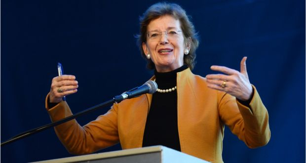 UN special envoy for climate change Mary Robinson will meet representatives of the Ethiopian government and visit areas affected by El Niño. Photograph: Dara Mac Dónaill/The Irish Times