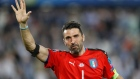 Safe hands: Italy legend Gianluigi Buffon hugs adoring fans