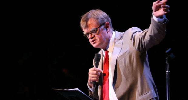 Garrison keillor signs off the air with help from barack obama garrison keillor writer and presenter of a prairie home companion expocarfo Gallery