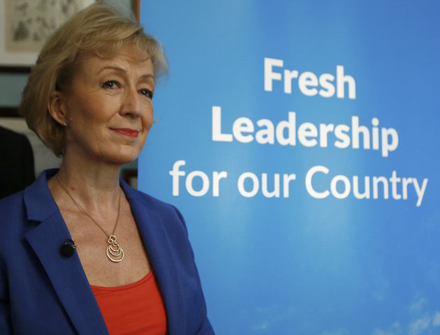 Andrea Leadsom vows to allow EU citizens already in UK to remain