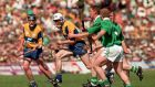 Clare took on Limerick in a classic encounter back in 1996. Photo: Inpho