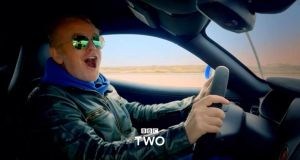 Chris Evans at the wheel in a trailer for BBC motoring show Top Gear. The co-presenter has quit the popular programme. File photograph: BBC/PA Wire