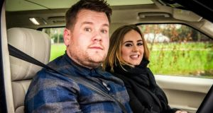 Adele's Carpool Karaoke with James Corden has got more than 114 million YouTube views. Photograph: Craig Sugden/CBS via Getty Images