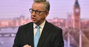 Michael Gove: wrote a pamphlet in 2000 called 'Northern Ireland: the Price of Peace' in which he compared the Belfast Agreement to the appeasement of the Nazis in the 1930s and the condoning of the desires of paedophiles. Photograph: Jeff Overs/EPA