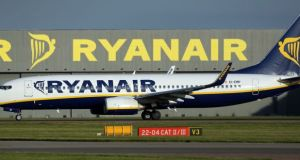 Ryanair said it has had  to cancel 102 flights  affecting more than 18,000 customers. Photograph: Chris Radburn/PA Wire