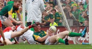 "The biggest officiating fiasco in modern times was the ""goal"" scored by Meath's Joe Sheridan to defeat Louth in the Leinster final six years ago. Photograph: Donall Farmer/Inpho"