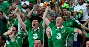 "Irish supporters: the best fans at Euro 2016 may have had the worst ""fans embassies"". Photograph: James Crombie/Inpho"
