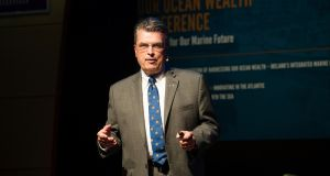 Craig McLean, deputy assistant administrator of NOAA's Office of Oceanic and Atmospheric Research, at the Marine Institute's Our Ocean Wealth Conference in Galway. Photograph: Andrew Downes