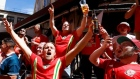 Euro 2016: Wales fans take over the centre of Lyon