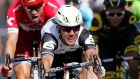 Team Dimension Data rider Mark Cavendish shows the strain as he stretches for the line in winning the sixth stage of the Tour de France   from Arpajon-sur-Cere to Montauban. Photograph: Jean-Paul Pelissier/Reuters