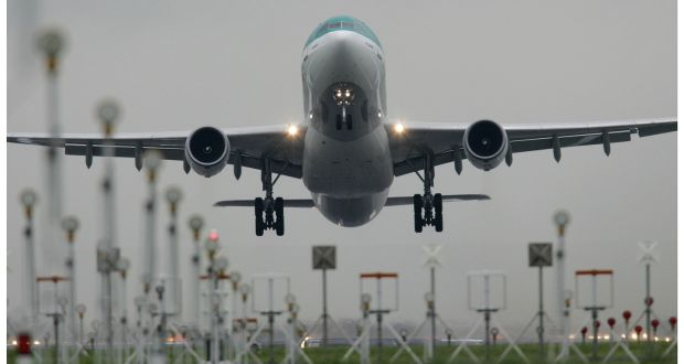 An overhaul of the main runway at Dublin Airport will see hundreds of night-time flights diverted over south Dublin every week for more than a year from September. File photograph: Alan Betson/The Irish Times
