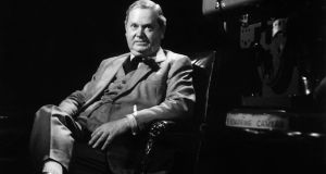 Isolated: Evelyn Waugh at the BBC in 1960. Photograph: Ullstein Bild via Getty