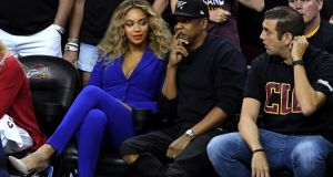 Beyonce and Jay Z attend Game 6 of the 2016 NBA Finals between the Cleveland Cavaliers and the Golden State Warriors at Quicken Loans Arena on June 16, 2016 in Cleveland, Ohio. Photograph: Getty