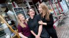 Sarah and Grace O'Shea, with Trish Messom at The Stuffed Olive in Bantry: Sarah looks after the accounts and front of house, Grace bakes bread and cakes and Trish makes the salads and specials. Photograph: Emma Jervis Photography