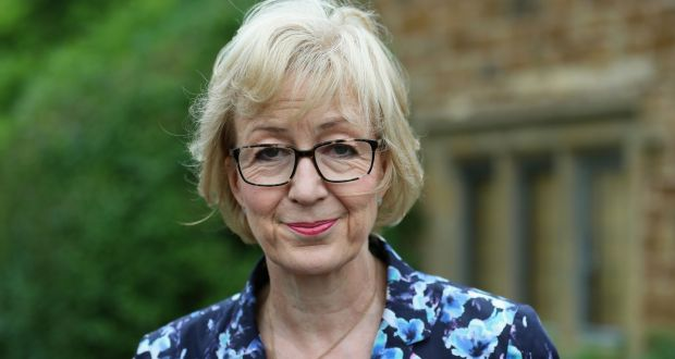 Tory leadership contender Andrea Leadsom, photographed outside her home in Northamptonshire on Saturday. Photograph:  Chris Radburn/PA Wire