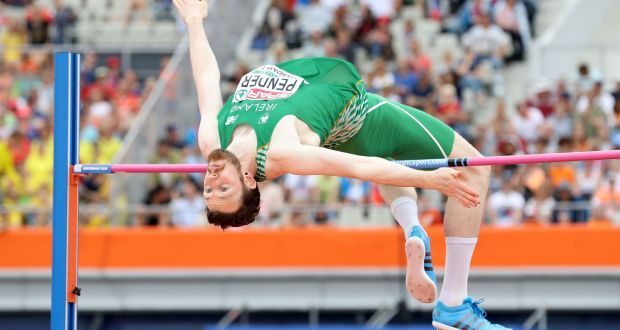 Irelands Barry Pender In Action During The Mens High Jump Qualifying Rounds At The European Athletic