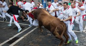 San Fermin festival  Gallery: Tossed in the air by bulls