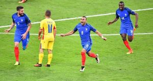 Dimitri Payet's stunning strike against Romania lit the blue touch paper at Euro 2016. Photograph: Getty