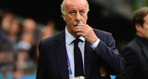 Voicente Del Bosque's tenure as Spain manager came to a disappointing end as Spain were knocked out by Italy. Photograh: Getty
